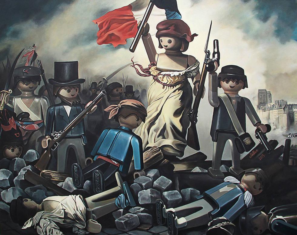Lá Liberté Guindant le Peuple