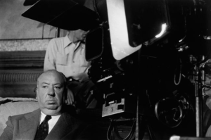 Alfred Hitchcock directing I Confess 1951