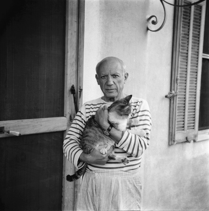 Pablo Picasso and Cat
